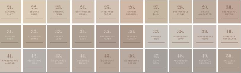 50 shades of biege